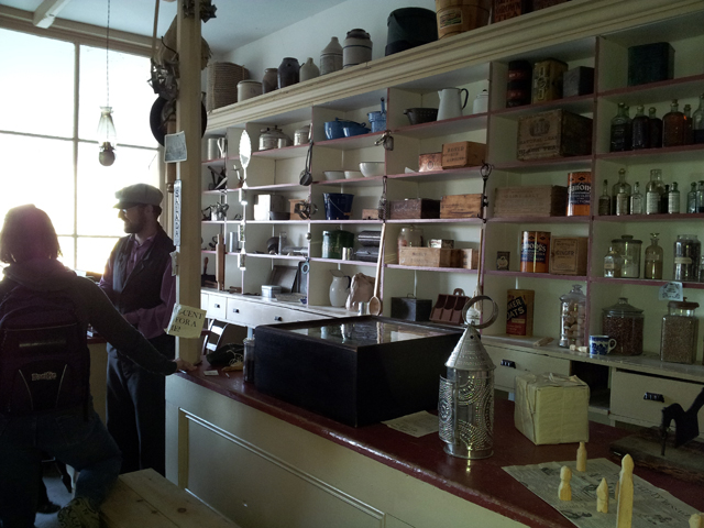 One side of the General Store