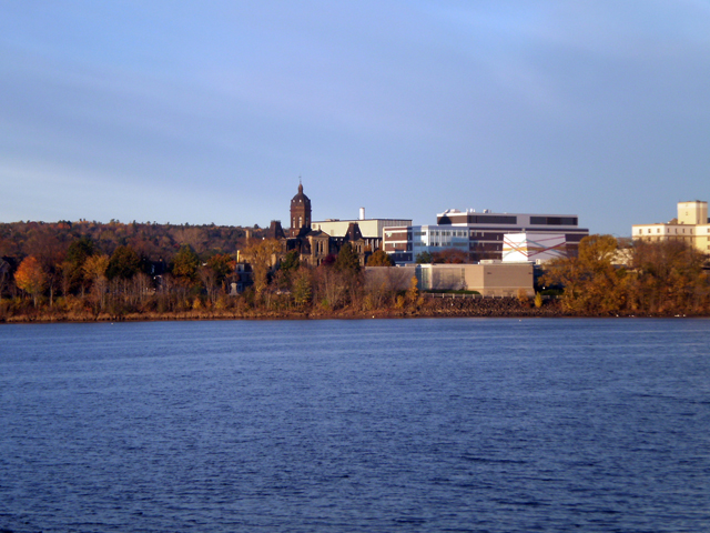 South side of Fredericton beyond St John River.